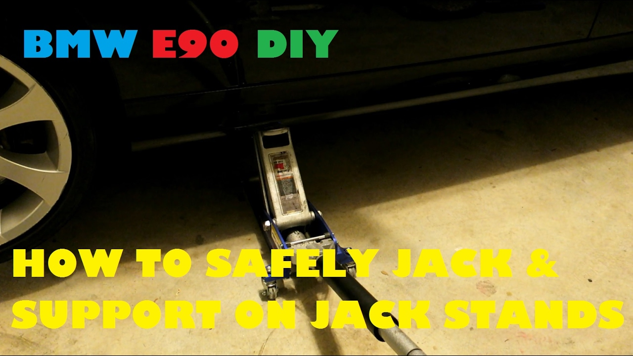 How To Jack Up Your E90 BMW At All Four Corners  Performed On My 2008 BMW  335i