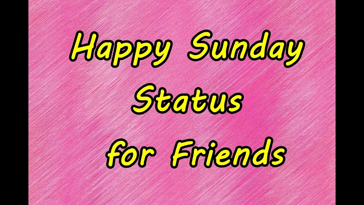 Happy Sunday Status For Friends Sunday Motivational Text Messages