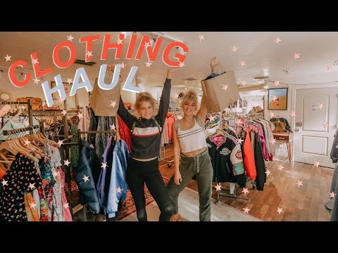 CLOTHING HAUL with Marla Catherine! Urban Outfitters, Pacsun, Brandy Melville, and more!