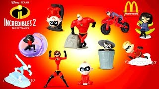 2018 McDONALD'S THE INCREDIBLES 2 HAPPY MEAL TOYS US FULL SET 10 KIDS 4 BOX UNBOX DISNEY PIXAR MOVIE