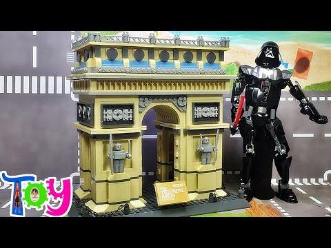 wange 프랑스 파리 개선문 레고 호환 블럭 조립기 Lego knockoff the triumphal arch of paris france