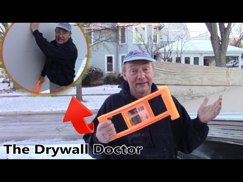 This Simple Tool Can Save Your Back from Lifting Drywall