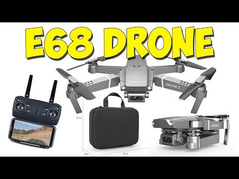 Складной квадрокоптер E68 Drone 2. Вес меньше 100 грамм. Широкоугольная камера 4К.
