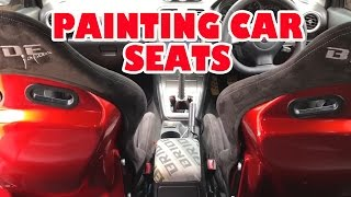 Candy Red metal flaked car seats
