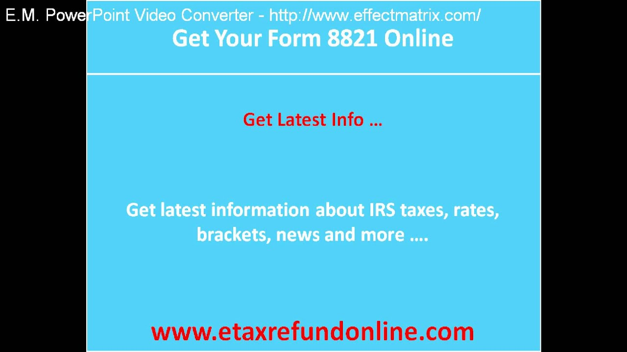 Get your form 8821 online - YouTube