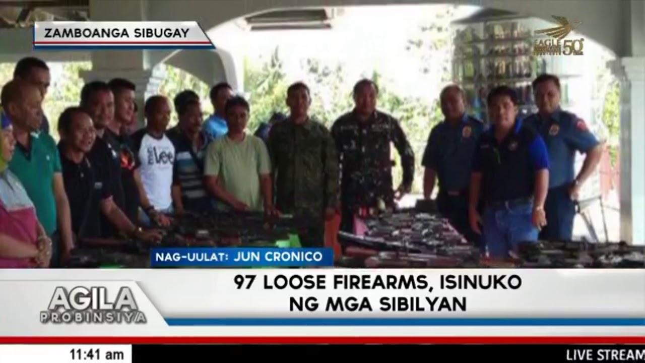 97 loose firearms, isinuko ng mga sibilyan sa Payao, Zamboanga Sibugay