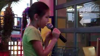 10 yr old Jade Wilson singing Baby by Justin Bieber at karaoke