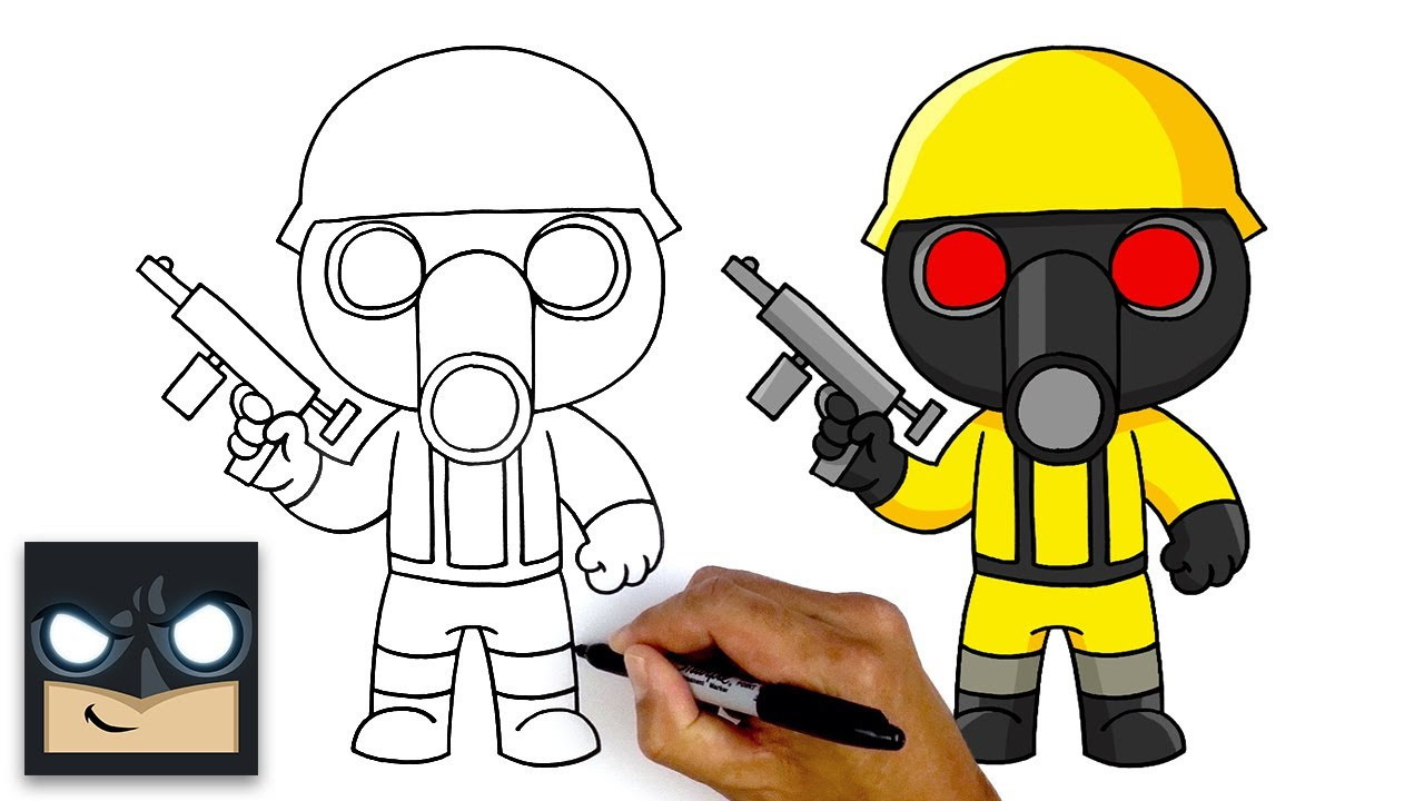 How To Draw Torcher   Roblox Piggy - YouTube