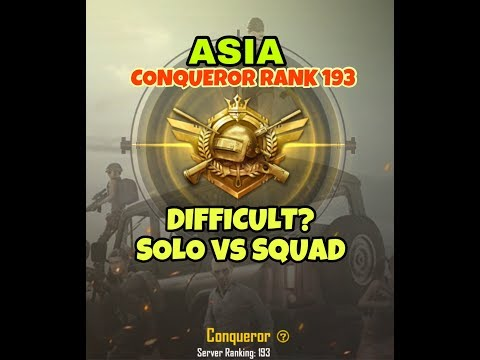CONQUEROR SOLO VS SQUAD | How difficult is Conqueror TIER?