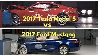 2017 Ford Mustang vs Tesla model s Crash Tests