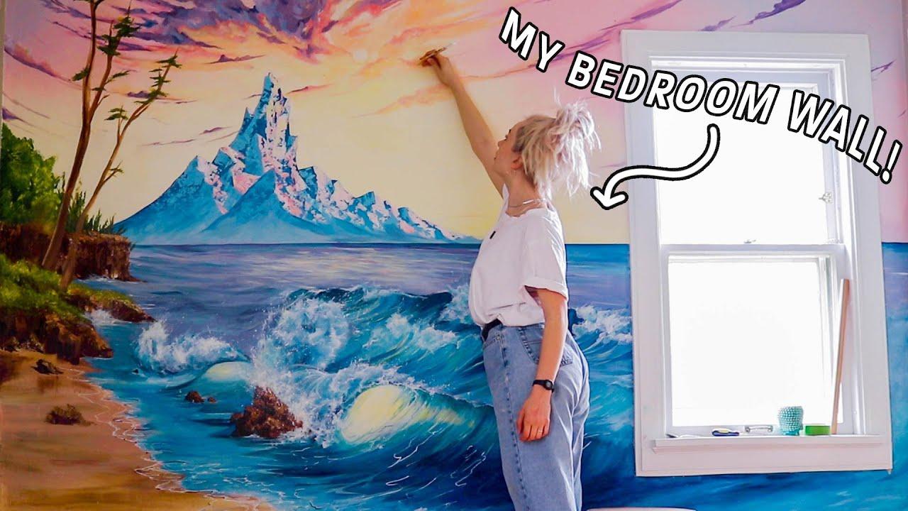 Following The Hardest Bob Ross Tutorial On My Bedroom Wall Youtube