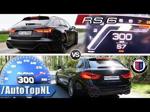 AUDI RS6 C8 600HP Vs 608HP Alpina B5 | 0-250km/h ACCELERATION \u0026 300km/h AUTOBAHN POV By AutoTopNL
