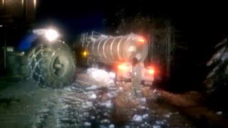 Pulling a tanker out of the ditch