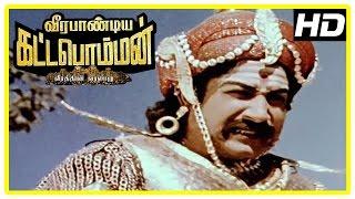 Veerapandiya Kattabomman Movie Scenes   Sivaji gets hurt in the war   VK Ramasamy   Padmini