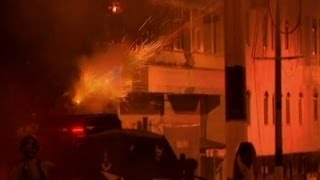 Raw: Palestinian Protesters Clash in Bethlehem