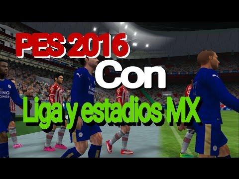 PES 2016 EN ESPAÑOL LIGA Y ESTADIOS MX (PPSSPP)