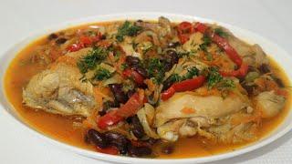 Отличный вариант вкусного и быстрого ужина,блюдо из куриных бедер