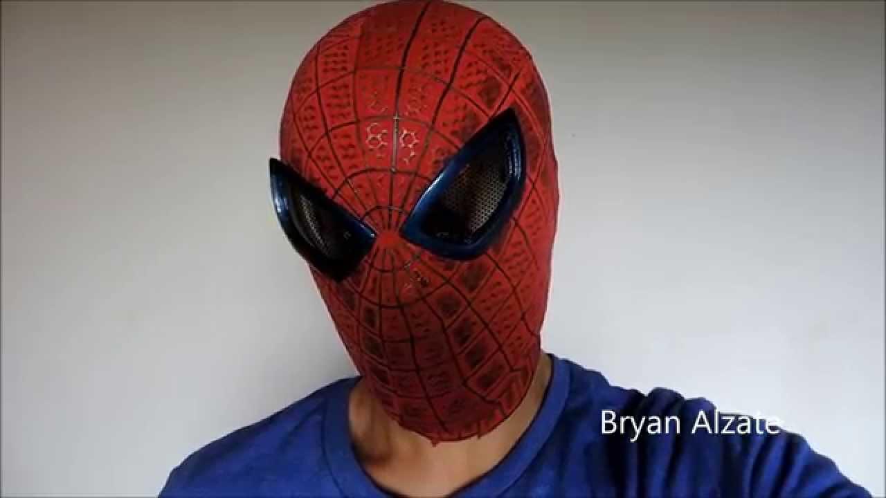 the amazing spiderman faceshell v3 youtube