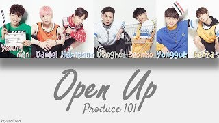 produce 101 knock   open up 열어줘 hanromeng color coded lyrics