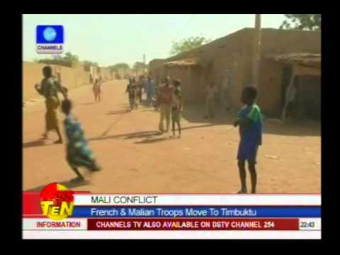 Mali Conflict:French & Malian troops move to Timbuktu