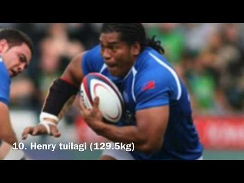 Top 10 heaviest  rugby player