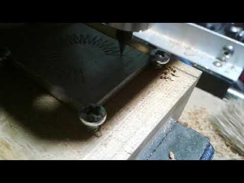 DIY CNC Router metal engraving testing.