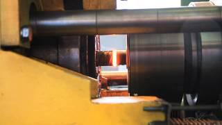 Сварка трением арматуры 36 мм на станке ПСТ 20Т, видео 2 (Rebar friction welding video 2)(Сварка трением арматуры из стали 35 ГС, диаметром 36 мм, на станке ПСТ 20Т, изготовленном в ООО
