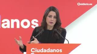 """Inés Arrimadas, sobre Murcia: """"El PSOE quiere repartirse las sillas sin pasar por las urnas"""""""