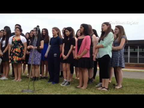 """Joseph Melillo Middle School concert choir performs """"Tears in Heaven"""" at ceremony honoring former se"""