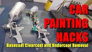 Car Painting HACKS: Basecoat Clearcoat and Undercoat Removal