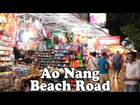 Ao Nang Beach Road: A Quick Tour of Ao Nang's Shopping Street. Ao Nang Krabi Thailand