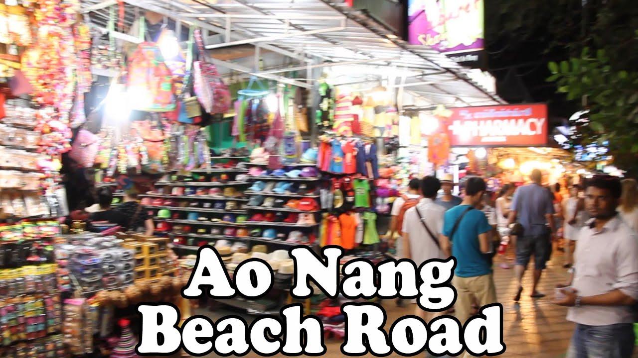 Ao Nang Beach Road A Quick Tour of Ao Nangs Shopping Street Ao