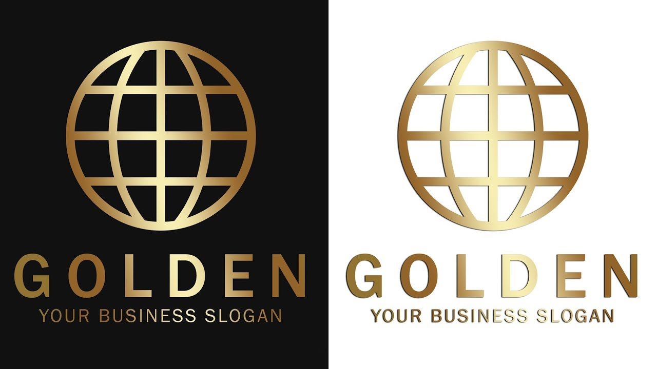 Photoshop Gold Text Effect & Logo Design Tutorial
