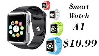 Умные часы Smart Watch A1:  $10.99  Распаковка, обзор.