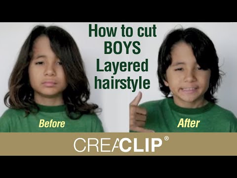 How To Cut Boys Layered Hairstyle Children S Cuts Youtube