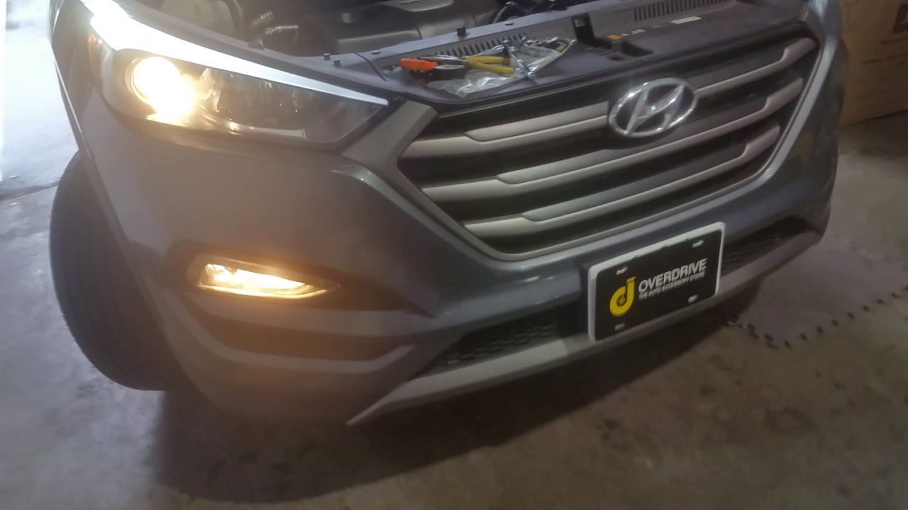 Hyundai Tucson HID headlight upgrade