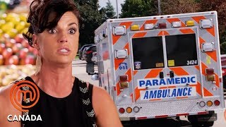 Line Pelletier Has A Fight In A Kitchen And Goes To Hospital | MasterChef World