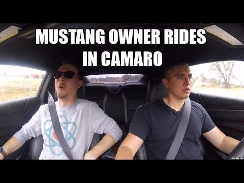 Mustang Owner Gets A Ride In A New Camaro!