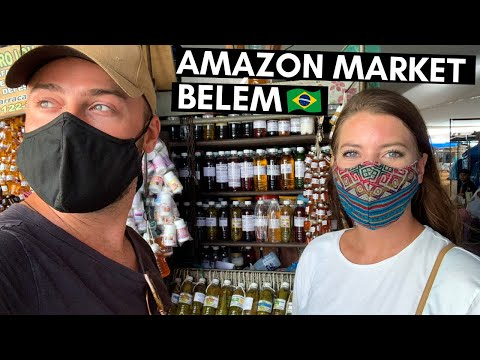 AMAZON MARKET EXPERIENCE 🇧🇷 BELÉM, BRAZIL   LARGEST OUTDOOR MARKET IN LATIN AMERICA