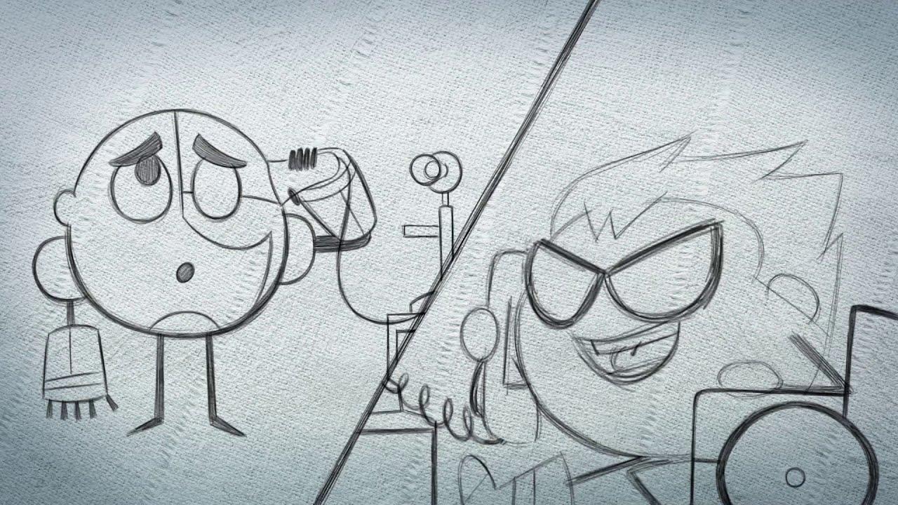 Download Teen Titans Go! Hand drawn Animation by Hayk Manukyan