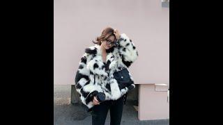 2021 новый стиль высококлассное модное женское пальто из искусственного меха c33 купить с Aliexpress