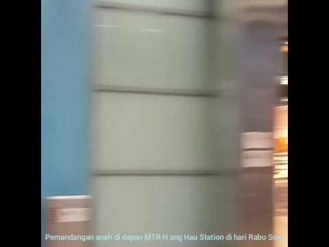 Kejadian Aneh di depan MTR Hang Hau Sore Kemarin