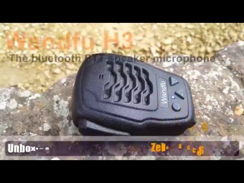 Unboxing and review of the Wandfu H3 PTT bluetooth speaker microphone for Zello