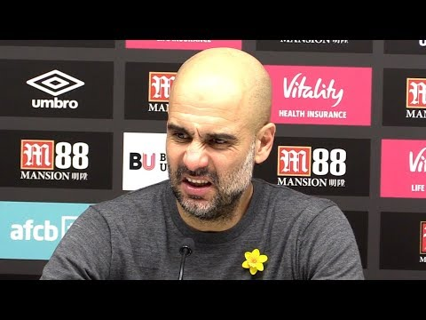 Bournemouth 0-1 Manchester City - Pep Guardiola Full Post Match Press Conference - Premier League