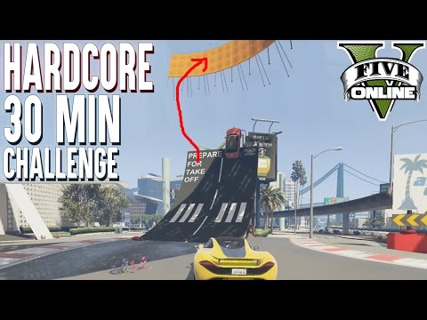 HARDCORE PARKOUR 30 MINUTEN CHALLENGE ★ GTA 5 Custom Map (+Download) ★ GTA Online LPmitKev