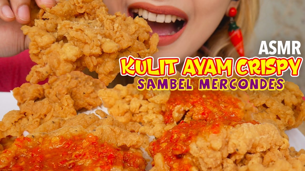 ASMR KULIT AYAM CRISPY SAMBEL MERCONDES | ASMR Indonesia