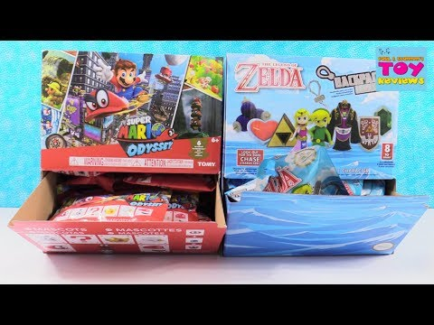 Super Mario Odyssey & Zelda Backpack Buddies Blind Bag Opening | PSToyReviews