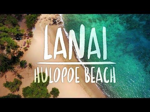 LANAI, HAWAII - Hulopoe Beach (DJI Mavic Pro Drone)