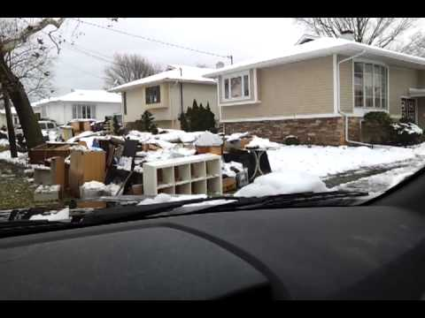 Elaine Drive, Oceanside, NY - 11 days after storm
