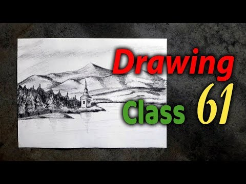 drawing-class-61-|-scenery-drawing-with-pencil